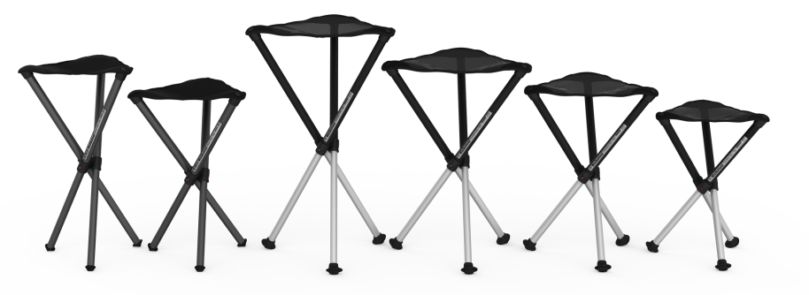 Walkstools in various seating heights.