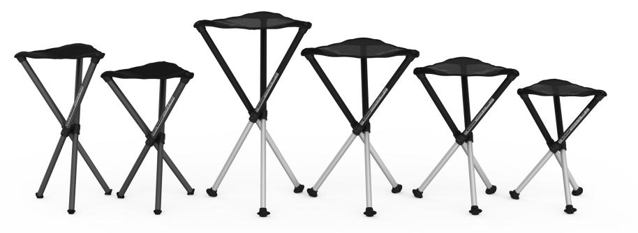 Walkstools in various seating heights.